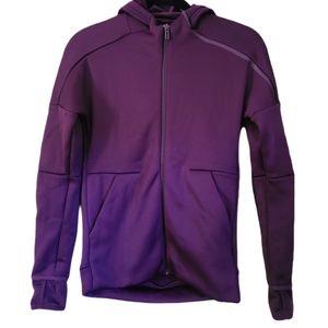 Purple Adidas Hooded Jacket
